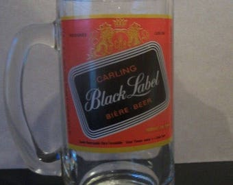 Vintage Carling Black Label Beer Mug Stein