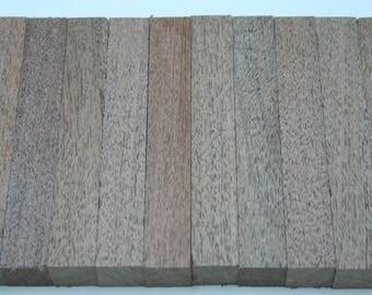 """Black Mesquite Exotic Wood Pen Blanks 10 Pieces 3/4""""x3/4""""x5"""" BM-1"""