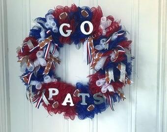 Football Wreath, American Wreath, Patriotic Wreath, Summer wreath, Football Season, sports, Sports Wreath, Sports Deco