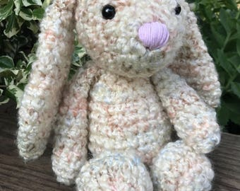 Crochet Bunny Rabbit * Handmade * Soft and Snuggly * Comforter * Amigurumi Present * Baby Gift * READY TO SHIP