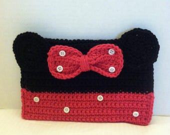 Minnie Pencil Case, Mouse Ears Pencil Case, Mouse Pencil Holder, Pencil Case, Pencil Pouch, Pencil Holder, Pencil Bag, School Supplies