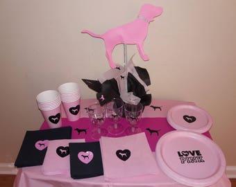 Pink Napkins, Victoria Secret Pink Napkins, Pink Plates, Pink party, vicky, victoria pink party, Pink Cups
