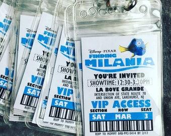 Finding Dory VIP Badge Pass Invitations
