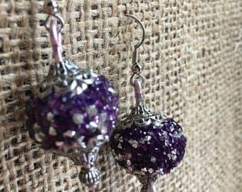 Purple Sparkle earrings