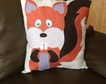Woodland Animal Pillow - SQUIRREL - Pillow Toy - Woodland Nursery