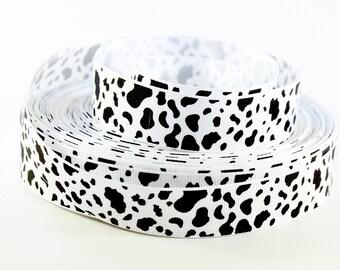 "7/8"" Small Cow Spots - Print Grosgrain Ribbon"