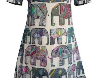 Elephant A-Line Shift Dress