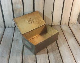 Vintage Tin Box, Small Metal Box, Wilson & Co Tin Box, Small Ton Box,