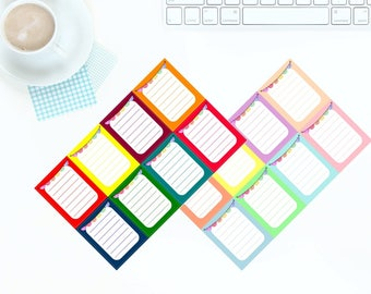 8 Multi-Coloured Bright OR Pastel Ombre Heart Checkboxes Stickers for Erin Condren LifePlanner