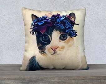 Cat Crown Pillow Case