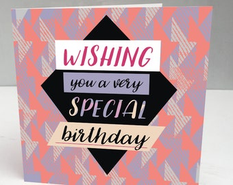 Birthday Card Mum, Birthday Card Girlfriend, Birthday Card Friend, Birthday Card for Her, Birthday Card Sister, Birthday Card Wife