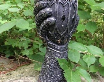 Game of Thrones House Lannister Valentine's Gift for Him Jaime's Gauntlet Goblet with House Lion Kingslayer