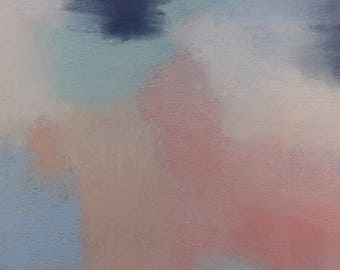 Original pastel abstract Peaches