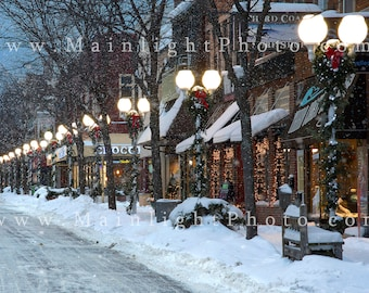 Photograph of Downtown St. Joseph, Michigan in Winter