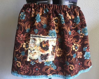 Upcycled crazy cat lover skirt 1x-3x