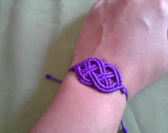 Celtic macrame bracelet