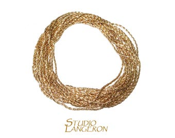 14K gold filled beading cardano chain available thickness 0.6, 0.8, 1.0 mm, beading chain, gold filled chain, beading chain - 1 Ft (30 cm)