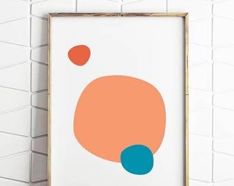 70% OFF SALE pop colour circles, pop colour art, pop colour decor, pop colour blobs, pop colour download, pop colour poster