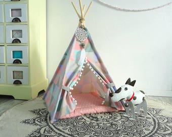 Pet teepee including pillow. Dog house. Cat bed. Tent. Tipi.