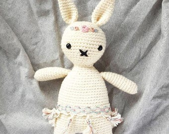Boho Rabbit stuffed animal - Made To Order