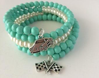 Flo Bracelet, Flo's V8 Cafe Bracelet, Cars Bracelet, Cars Movie Bracelet, Disney Bracelet, Disney Jewelry, Flo from Cars, Vintage Car