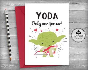 Valentine's Day Card | Star Wars Valentines Card | I Love You | Anniversary Card | Romantic Card | Love Card | Printable Card - Love Yoda