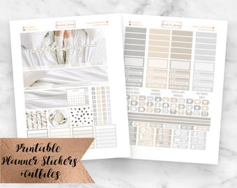 February Monthly Kit Snowed In Printable Planner Stickers- February Monthly View- Erin Condren Planner Stickers