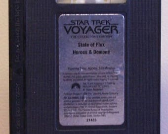 Star Trek Voyager VHS. State of Flux/ Heroes & Demons no container