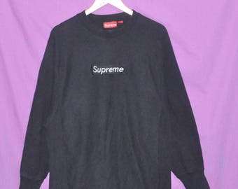 Vintage Supreme Box Logo Crewneck Sweatshirt Sweater Made in Canada Large Size