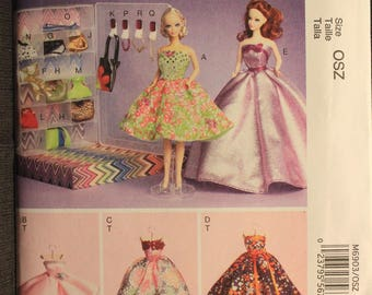 McCalls 6903   11 1/2 in Fashion Doll Clothes and Accessories
