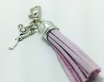 Zipper pull, tassel, sport charms, lunch box, back pack, custom metal purse charm, school bag charm, planner charms, cheerleader.