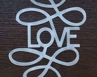 Love metal wall art - stainless steel - sculpture - modernize art