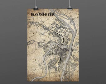 Koblenz DIN A4 / DIN A3 - print - turquoise