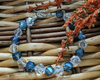 Blue Beaded Bracelet, Blue Bracelet, Valentine's Gift For Her, Elegant Bracelet, Big Bead Bracelet | Shop for a Cause | Jewelry for a Cause