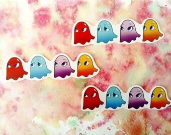 "Pac-man Ghosts 3.1"" handmade sticker"