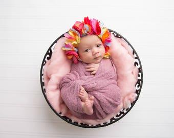 Colourful Newborn hat