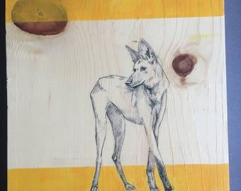 Maned Wolf (original handpainted)