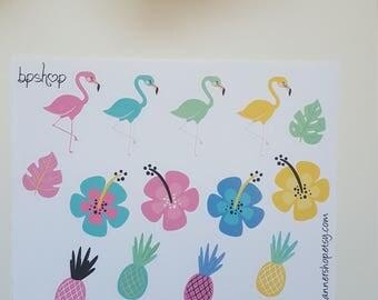 Planner stickers summer Flamingo