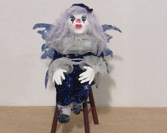 "OOAK Art Doll, ""Moonbeam"", Fairy of the Night Sky, by Sherry Harrison"