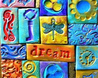 polymer clay mosaic, decorated box, keepsake box, trinket box, dream