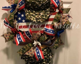 Military soldier wreath