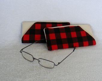 """Eye Glasses Cover, Padded Eyeglass Case, Eye Glass Case, Case for EyeGlasses, Soft Eye Glass Case, Glasses Cover, 6 1/2"""" x 2 1/2"""""""