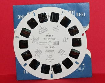 Vintage Sawyers Viewmaster Reel Tulip Time Holland 1920-A