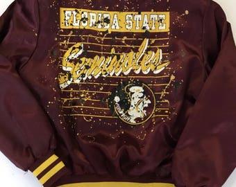 Florida State University Bomber Jacket Customized