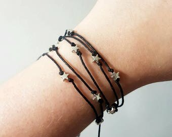 Pack of 3 Star stack bracelets