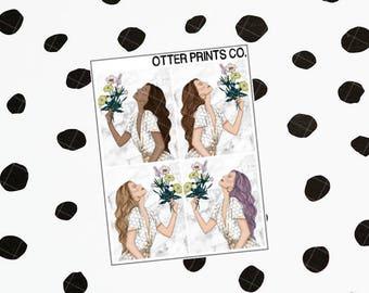 Bee Sweet || Fashion Girls (4 Planner Stickers)