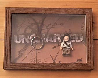 Uncharted Nathan Drake Minifigure Framed Set