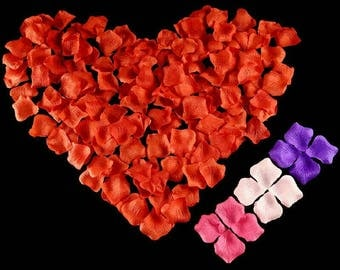 wedding events decoration 500pcs silk rose petals table artificial flowers engagement party supplies free shipping