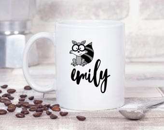 Racoon Custom Any Name *Personalised* 11oz MUG