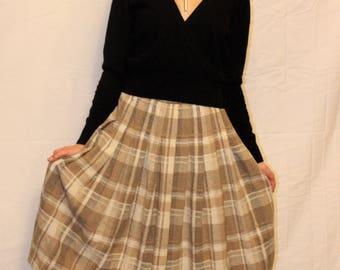Vintage Pendleton Wool Plaid Skirt